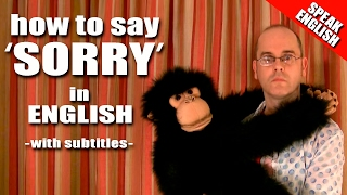Learning English, Lesson 10 -  Saying Sorry