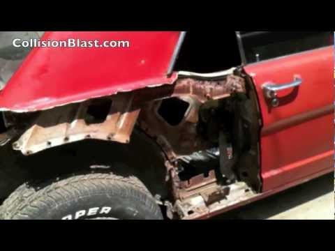 0 Mustang Restoration Project   How To Remove A Rusted Outer Wheelhouse on a 66 Mustang