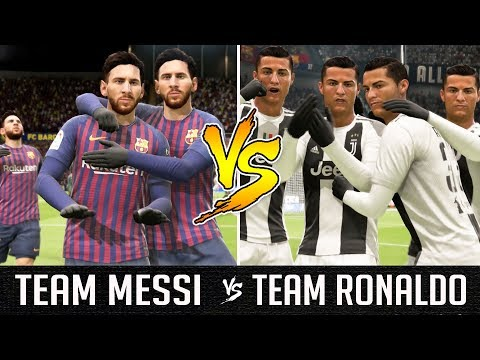 Team Messi VS Team Ronaldo - FIFA 19 Experiment