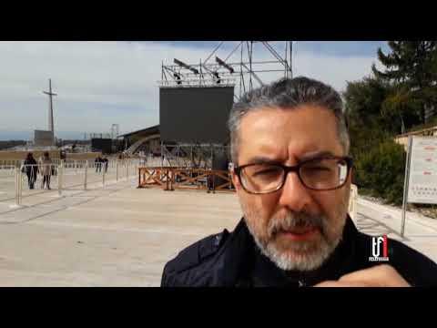 ULTIMI PREPARATIVI PER L'ARRIVO DI PAPA FRANCESCO