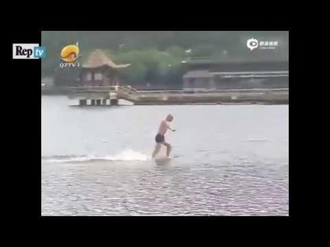 il monaco shaolin che cammina sulle acque e batte il record del mondo!