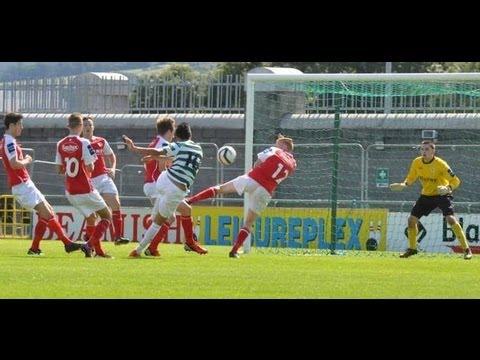 2013-08-17 Shamrock Rovers vs St Pats U19  Muhanned Bukhatwa مهند بوخطوة Libya