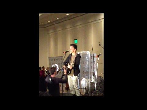 CAMERON, DANIEL & TAYLOR SINGING AT MAGCON!