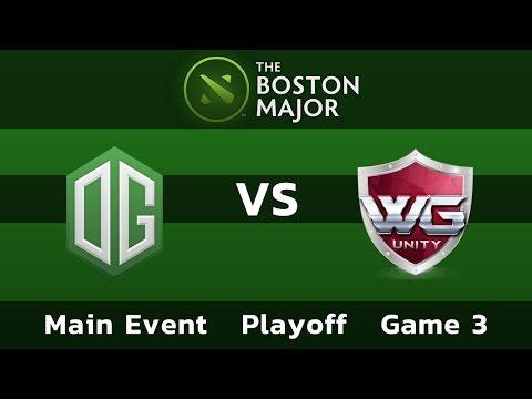 OG vs WarriorsGaming.Unity — Game 3 • Playoff Main Event — Boston Major