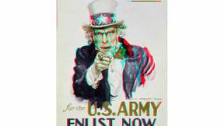 Uncle Sam in 3D Animation ANAGLYPH Put on Red and Cyan Glasses