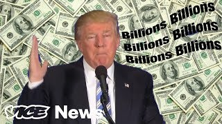 "Billions. It's a fun word to say. Rolls right off the tongue. Go ahead, try it. ""Billions."" Even more fun to say? Billions and billions. And then there's the trifecta: billions and billions and billions. You see how easy it is to get carried away.It even happens to Donald Trump — often. Here's a video of him saying the word billions. And billions. And billions and billions and… you get the idea.Note: The clips were sourced from as early as 1987 up until the present day. While some clips come from the same appearance, there are no repeated clips in the video.Watch Donald Trump say ""bing"" here: http://bit.ly/2v1qx8eSubscribe to VICE News here: http://bit.ly/Subscribe-to-VICE-NewsCheck out VICE News for more: http://vicenews.comFollow VICE News here:Facebook: https://www.facebook.com/vicenewsTwitter: https://twitter.com/vicenewsTumblr: http://vicenews.tumblr.com/Instagram: http://instagram.com/vicenewsMore videos from the VICE network: https://www.fb.com/vicevideo"