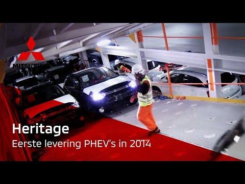 De eerste Mitsubishi Outlander PHEV's aangekomen in Zeebrugge
