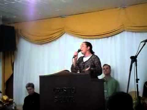 Cantora Carla Forstner Louvando ao senhor JESUS em União da Vitória PR