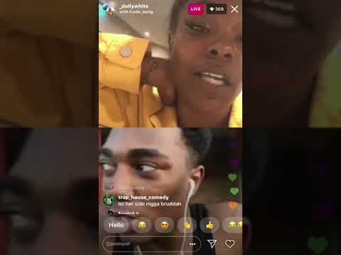 Fredo Bang On Instagram Live With Young Thug Sister Dolly White, Being Freaky😂😂😂