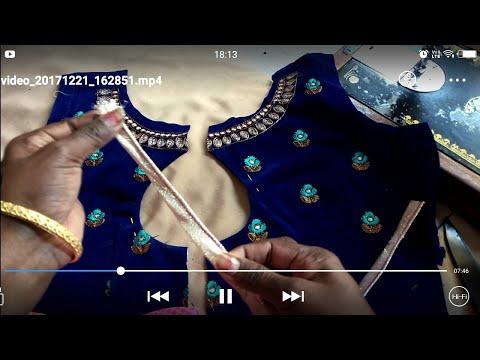 Video princess cut blouse boat neck Ke saath back  side open kaise bnaye? download in MP3, 3GP, MP4, WEBM, AVI, FLV January 2017