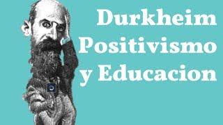 Resumen de la sociología objetiva positivista organicista de Durkheim y su relación con la educación.