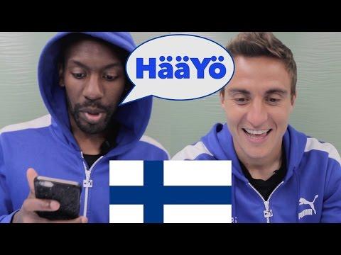 Ulkomaalaiset futarit yrittävät puhua suomea – Learn Finnish with footballers