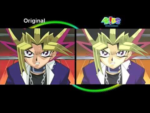 Yu Gi Oh!  Original vs  4Kids Side by Side Comparison   Part 1
