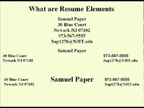 ENG 352 Technisches Schreiben - 39 - Lebenslauf Elemente