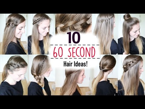 Ten 60 Second Heatless Hairstyles / 1 Minute Hairstyles   Quick Hairstyles   Braidsandstyles12