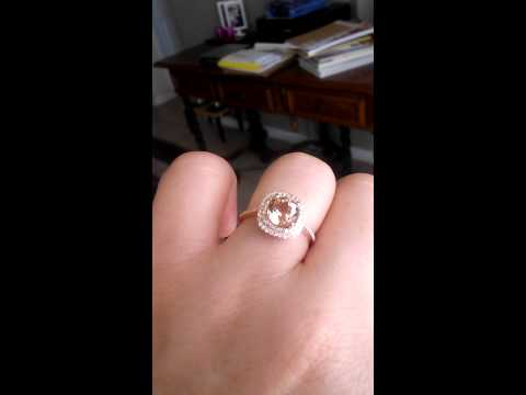 14K Rose Gold Morganite Ring by Aggie M. Jewelry
