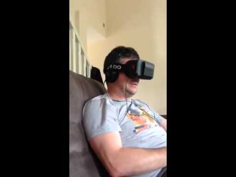 My mate Jason watching InsidiousVR