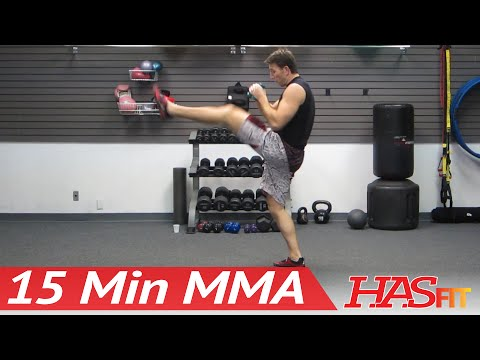 ufc fighting ufc kicking - Coach Kozak's UFC training style 15 Minute MMA Training Workout will kick your butt into shape! This routine requires no equipment and can be done at home us...