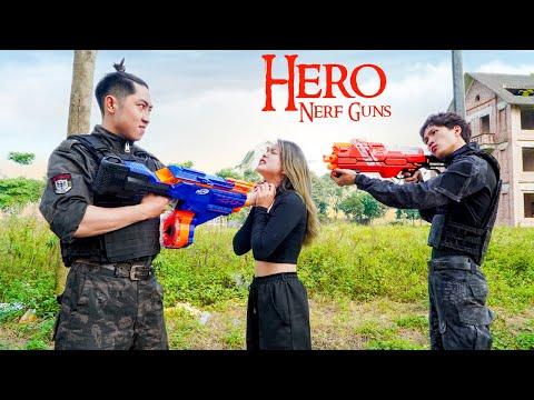Hero Ner Guns: Captain SEAL Girl Nerf Guns Fight Criminal Group Rescue SWAT Revenge Battle
