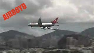 Taken from the checkerboard used for the approach into Kai Tak. Odd crosswind landing. IGS 13 http://bit.ly/78Fqcz Click to ...