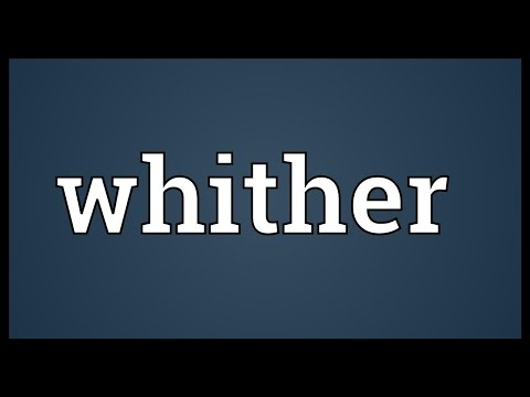 Whither Meaning