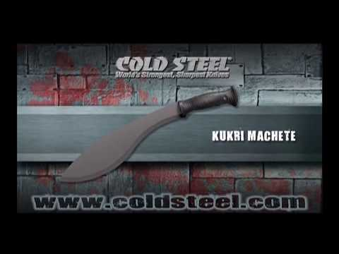 "Cold Steel Kukri Machete Knife w/ Sheath (13"" Black) 97KMS"