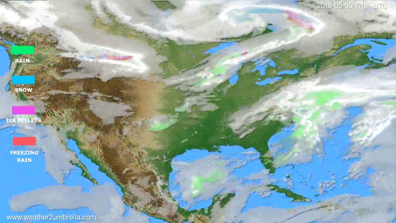 Precipitation forecast USA & Canada // modelrun: 00h UTC 2019-05-04