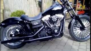 7. 2007 Harley Davidson FXDB Dyna Street Bob contrast cut custom 21