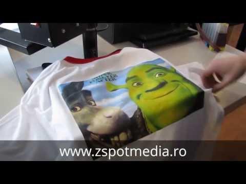 Imprimare tricouri cu presa termica si folie de transfer JET-ST