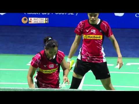 2015 China Open - QF - Misaki Matsutomo/ Ayaka Takahashi vs Amelia Alicia Anscelly/ Soong Fie Cho