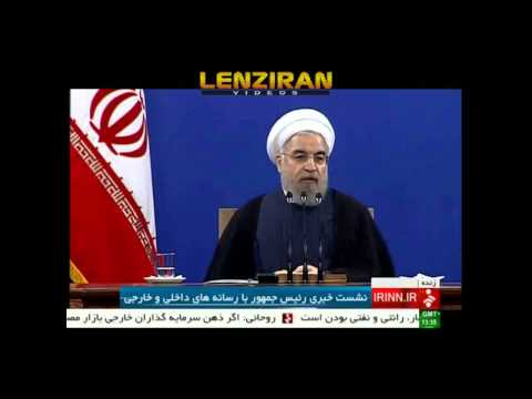 Hassan Rouhani respond to reporter about house arrest of Mousavi & Karoubi (видео)