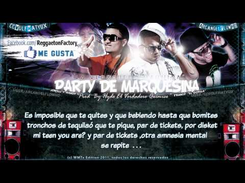 Letra Party de Marquesina Franco El Gorila ft Jowell y Randy