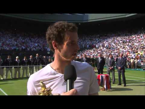 Murray - Watch Andy Murray address the Centre Court crowd moments after his historic Wimbledon 2013 victory.