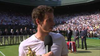 Tennis Highlights, Video - Andy Murray's Championship Winning Speech