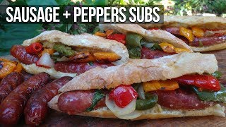 Easy Sausage n' Peppers Sub Recipe by the BBQ Pit Boys by BBQ Pit Boys