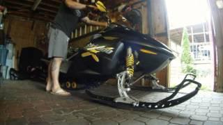 2. Ski Doo rev 600 exhaust tones stock vs MBRP race can