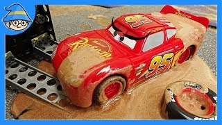 Video Disney Lightning McQueen car fell into a mud swamp. Rescue the McQueen car. MP3, 3GP, MP4, WEBM, AVI, FLV Agustus 2018