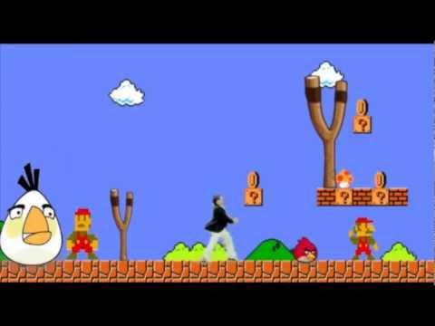 Super Mario Gangnam Style Funny Parody Video