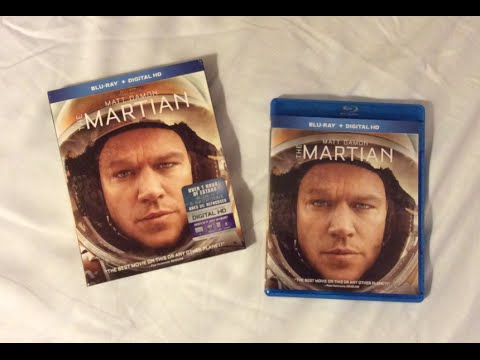 The Martian (2015) Blu Ray Unboxing Review