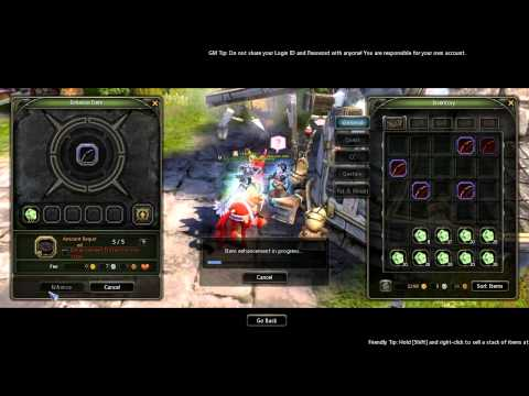 Let's Play Dragon Nest SEA - Enhancing Tips Feat. 2/18 Lvl40 RARE Shortbows +11