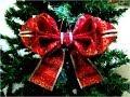 Moños Navideños en cintas diseño de hojas dobles - YouTube
