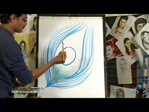 Peacock Feather : Drawing