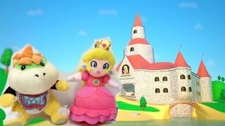Super Mario Bros Plush Toys Save Princess Peach from bowser in super mario castle
