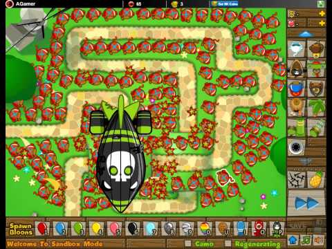 Btd5 bloons tower defense 5 walkthrough hard mode track 3 0