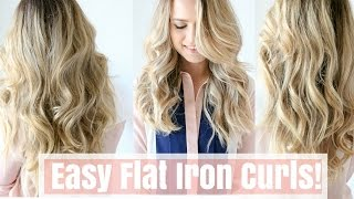 How to: Easy Flat Iron Curls (No Twisting!)
