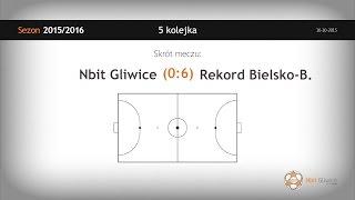 Skrót meczu Nbit Gliwice - Rekord Bielsko Biała (5 kolejka)