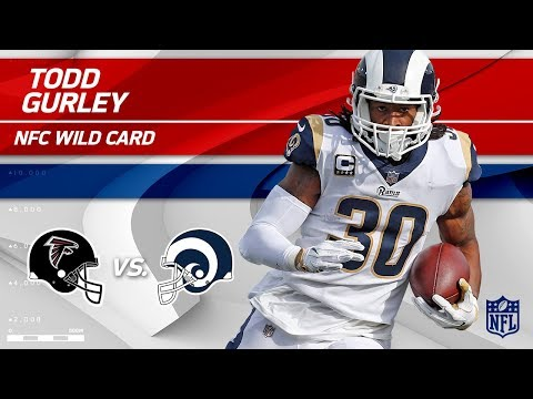 Video: Todd Gurley Breaks 100 Yards Rushing in Playoff Debut! | Falcons vs. Rams | Wild Card Player HLs