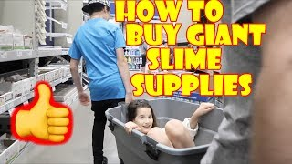 How to Buy Giant Slime Supplies 👍 (WK 334.4) | Bratayley