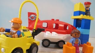 """I unbox and assemble an Airport by Lego Duplo. This set includes Duplo blocks for building an airplane, airport vehicles, and buildings. It also includes 2 airport worker mini figures and 1 passenger mini figure.Check out our other fun toy videos:Playing Disney Sofia The First Forest Playset""""http://youtu.be/9gYcPLm6QiI""""Unboxing and Playing Spiderman Villain Showdown""""http://youtu.be/ythIXRIWyU4""""Opening 8 Transformers Rescue Bots Playskool Heroes""""http://youtu.be/Yc03l9Z8H-c""""Unboxing 5 Pack Shopkins Small Mart with Hidden Shopkin""""http://youtu.be/EgpZleCzmj8""""Watch Assembling and Playing the Design And Drift Speedway Track Set With Micro Drifters Lightning McQueen and Dinoco Cars""""http://youtu.be/AEhokIcYRGU""""Unboxing Disney Fairies Tink's Bling Boutique with Tinker Bell""""http://youtu.be/ccYSH2YIkj4""""Watch Playing with the Riplash Flyers from Disney Movie Planes Fire and Rescue. We have the Skipper and Dusty Riplash Flyers.""""http://youtu.be/pLSOYiihqEs"""""""