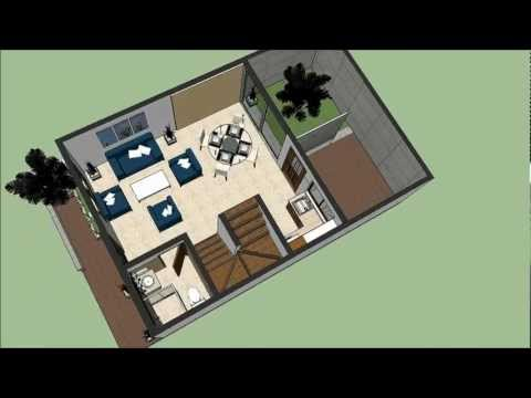 Planos casas team 39 s idea for Casa moderna minimalista interior 6m x 12 50m